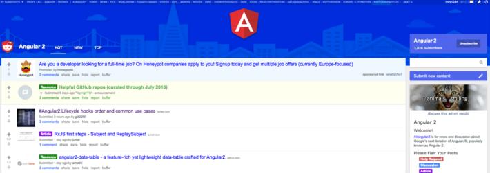 Angular Subreddit